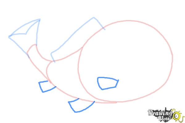 how to draw a simple fish step by step