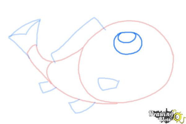How to Draw a Simple Fish - Step 7