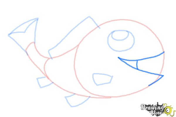 How to Draw a Simple Fish - Step 8