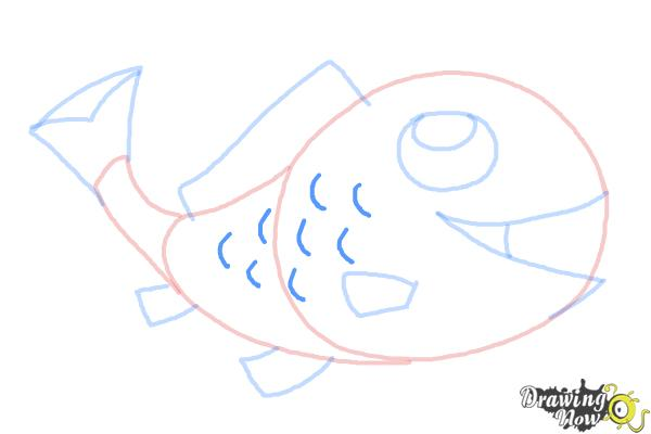 How to Draw a Simple Fish - Step 9