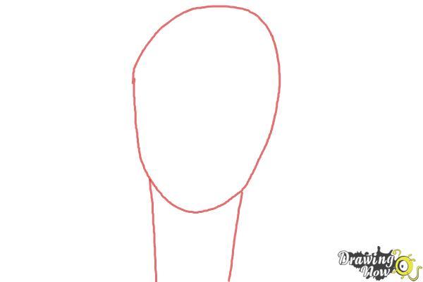 How to Draw Rock, Rokuro Okajima from Black Lagoon - Step 1