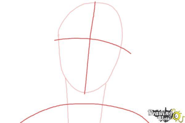 How to Draw Rock, Rokuro Okajima from Black Lagoon - Step 2