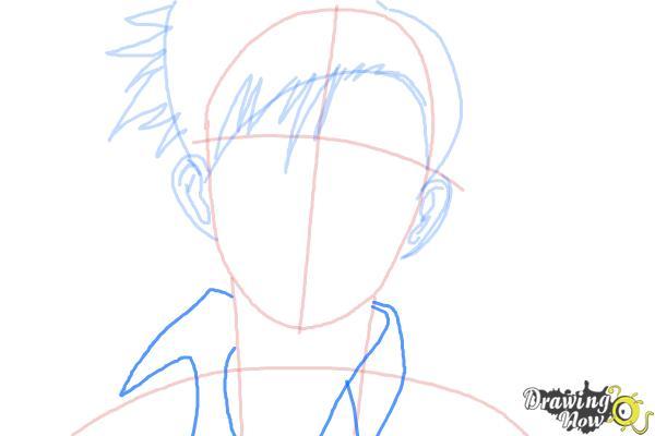 How to Draw Rock, Rokuro Okajima from Black Lagoon - Step 5