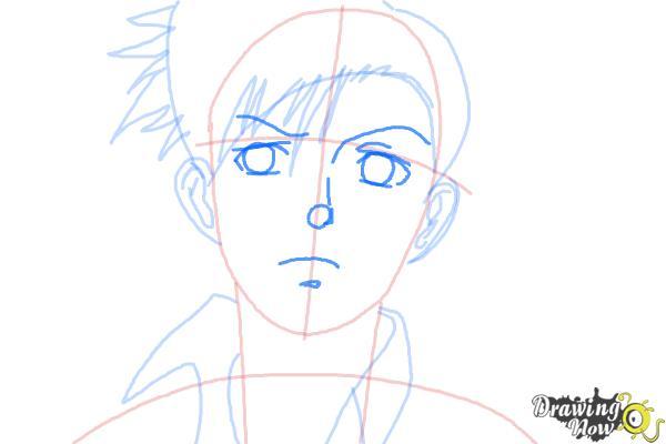 How to Draw Rock, Rokuro Okajima from Black Lagoon - Step 6