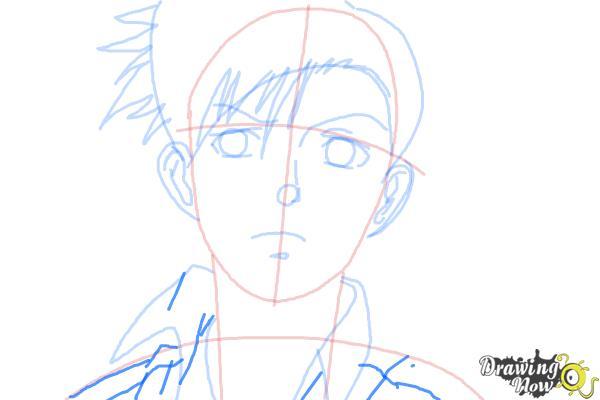 How to Draw Rock, Rokuro Okajima from Black Lagoon - Step 7