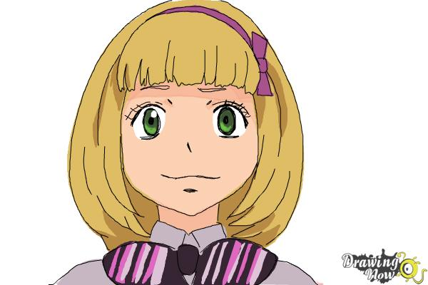 How to Draw Shiemi Moriyama from Ao No Exorcist, Blue Exorcist - Step 10