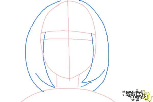 How to Draw Shiemi Moriyama from Ao No Exorcist, Blue Exorcist - Step 4