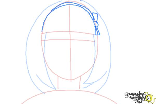 How to Draw Shiemi Moriyama from Ao No Exorcist, Blue Exorcist - Step 5