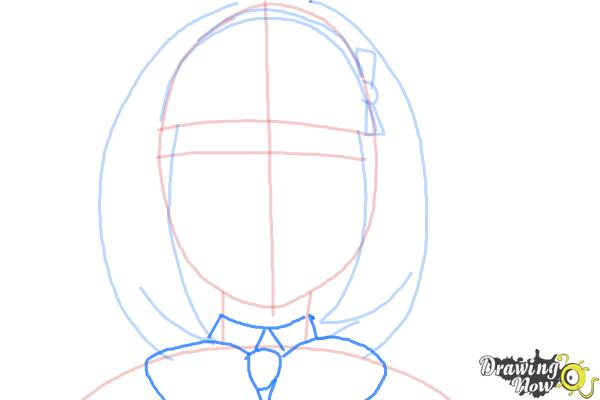 How to Draw Shiemi Moriyama from Ao No Exorcist, Blue Exorcist - Step 6