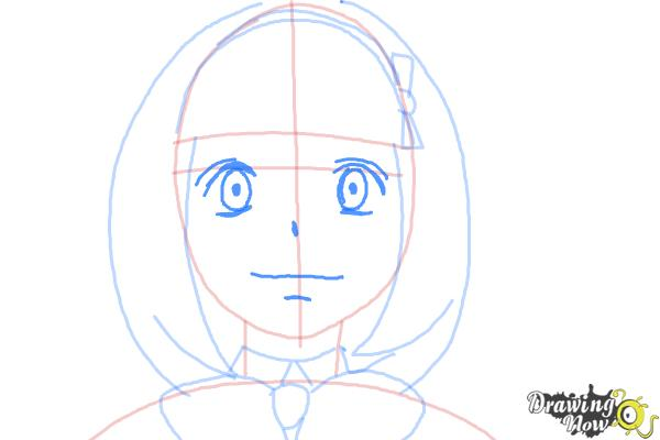 How to Draw Shiemi Moriyama from Ao No Exorcist, Blue Exorcist - Step 7