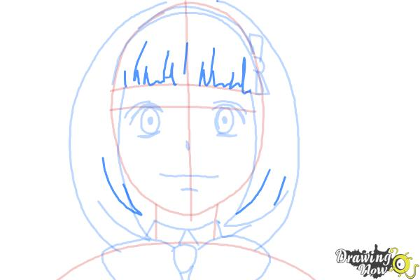 How to Draw Shiemi Moriyama from Ao No Exorcist, Blue Exorcist - Step 8