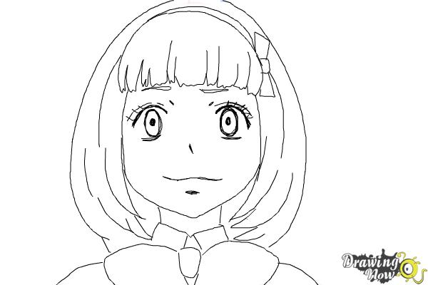 How to Draw Shiemi Moriyama from Ao No Exorcist, Blue Exorcist - Step 9