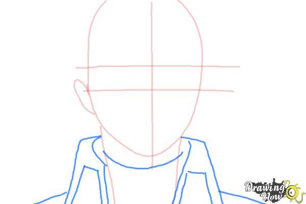 How to Draw Yukio Okumura from Ao No Exorcist, Blue Exorcist - Step 4