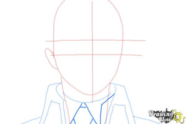 How to Draw Yukio Okumura from Ao No Exorcist, Blue Exorcist - Step 5