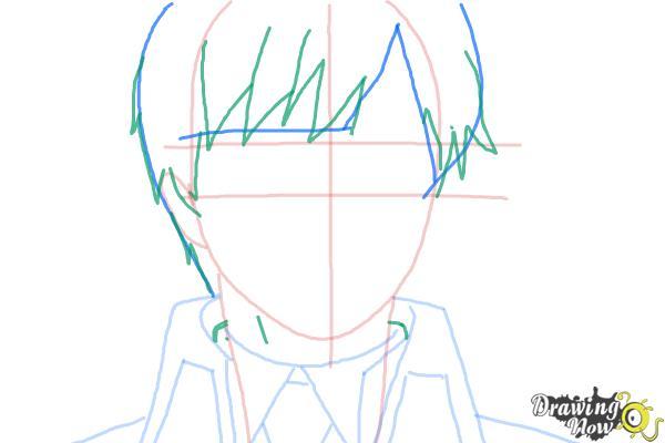 How to Draw Yukio Okumura from Ao No Exorcist, Blue Exorcist - Step 6