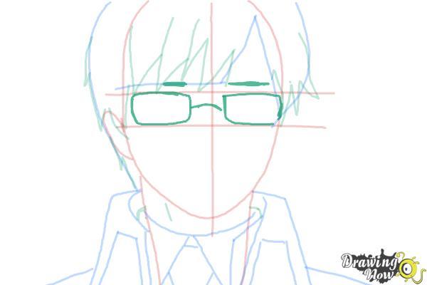 How to Draw Yukio Okumura from Ao No Exorcist, Blue Exorcist - Step 7