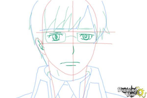 How to Draw Yukio Okumura from Ao No Exorcist, Blue Exorcist - Step 8
