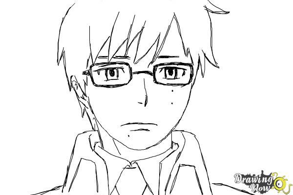 How to Draw Yukio Okumura from Ao No Exorcist, Blue Exorcist - Step 9