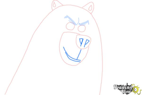 How to Draw Corporal from The Penguins Of Madagascar - Step 5