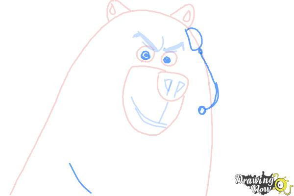 How to Draw Corporal from The Penguins Of Madagascar - Step 6