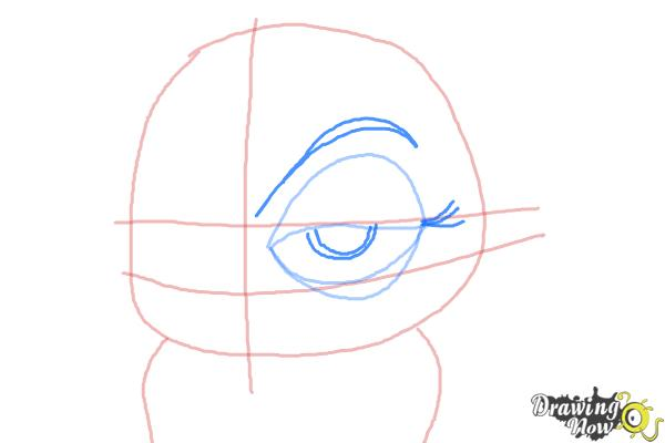 How to Draw Eva from The Penguins of Madagascar - Step 5