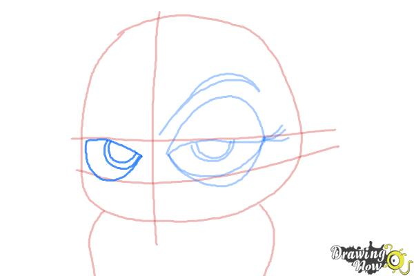 How to Draw Eva from The Penguins of Madagascar - Step 6