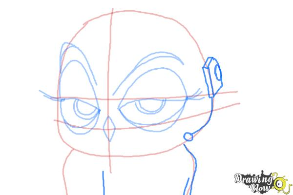 How to Draw Eva from The Penguins of Madagascar - Step 8