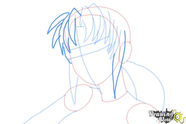 How to Draw Revy, Rebecca Lee from Black Lagoon - Step 6