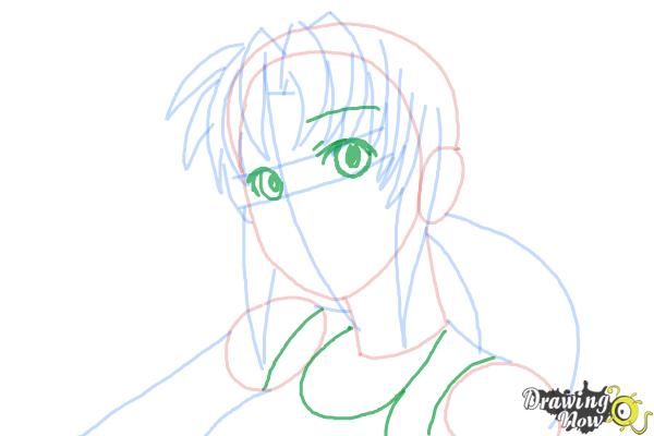 How to Draw Revy, Rebecca Lee from Black Lagoon - Step 7