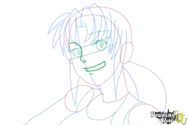 How to Draw Revy, Rebecca Lee from Black Lagoon - Step 8