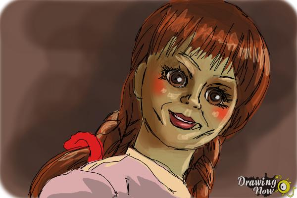 How to Draw Annabelle - Step 10