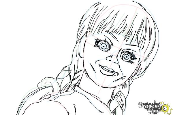 How to Draw Annabelle - Step 9