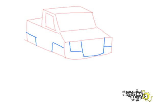 How to Draw a Monster Truck Step by Step - Step 7