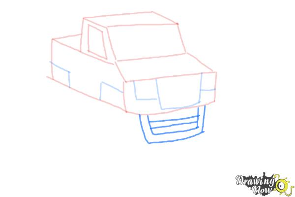 How to Draw a Monster Truck Step by Step - Step 8