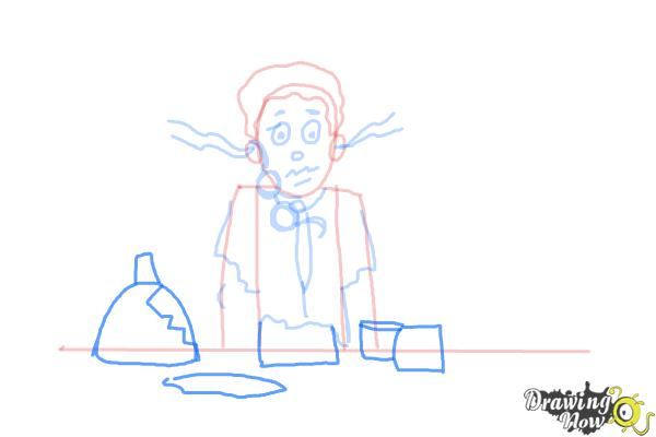 How to Draw a Science Lab Accident - Step 8