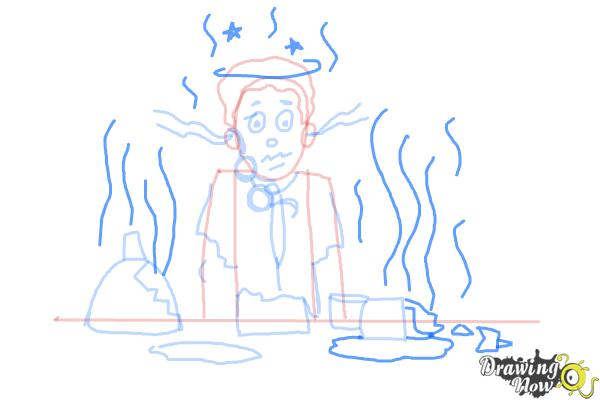 How to Draw a Science Lab Accident - DrawingNow