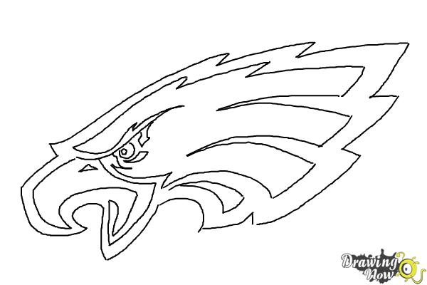 How to Draw Philadelphia Eagles Logo Nfl Team Logo