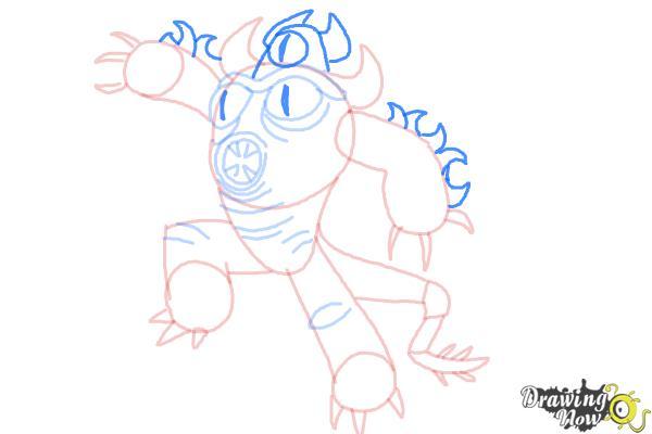 How to Draw Fredzilla from Big Hero 6 - Step 10