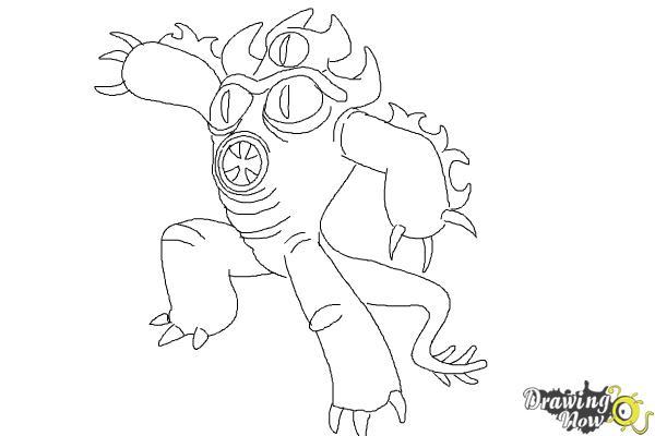 How to Draw Fredzilla from Big Hero 6 - Step 11