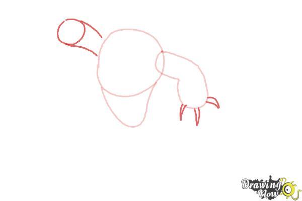 How to Draw Fredzilla from Big Hero 6 - Step 4