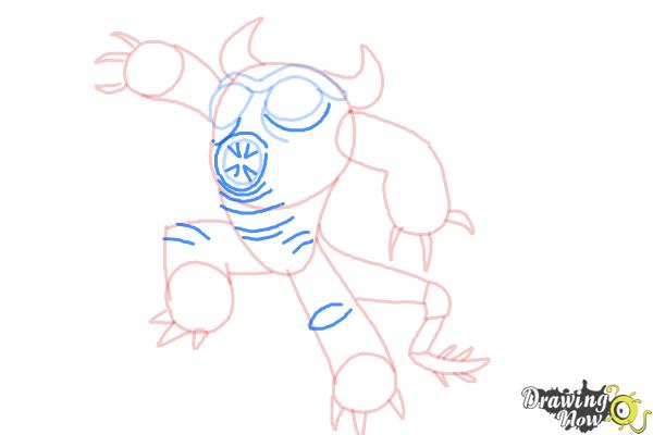 How to Draw Fredzilla from Big Hero 6 - Step 9