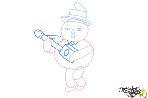 How to Draw John Crops from Over The Garden Wall - Step 8
