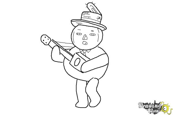 How to Draw John Crops from Over The Garden Wall - Step 9
