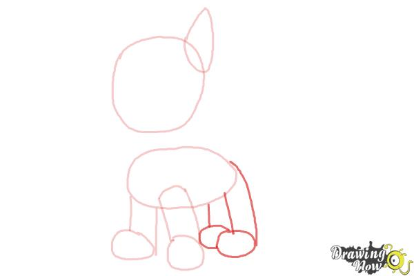 How to Draw Chase from Paw Patrol - Step 3