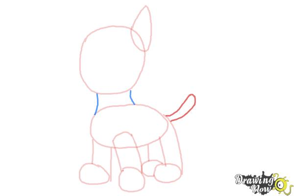 How to Draw Chase from Paw Patrol - Step 4