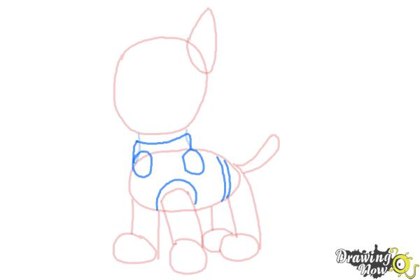 How to Draw Chase from Paw Patrol - Step 5