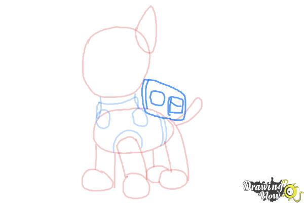 How to Draw Chase from Paw Patrol - Step 6