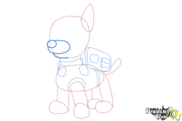 How to Draw Chase from Paw Patrol - Step 7