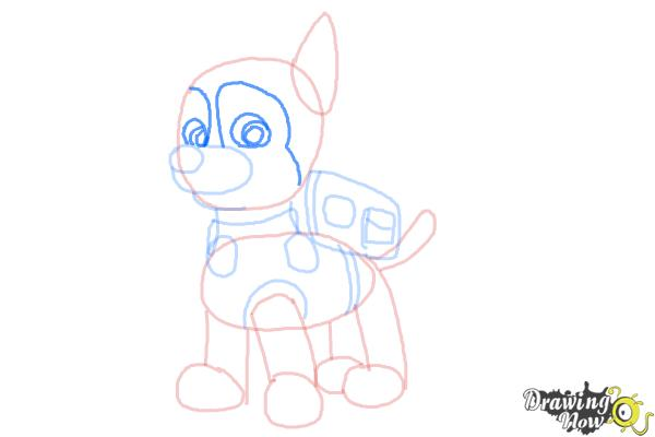 How to Draw Chase from Paw Patrol - Step 8