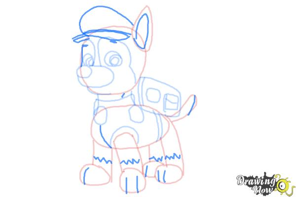 How to Draw Chase from Paw Patrol - Step 9